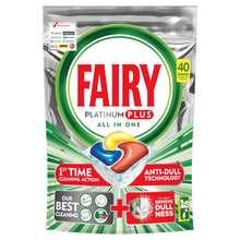 قرص ماشین ظرفشویی فیری مدل Platinum Plus بسته 40 عددی