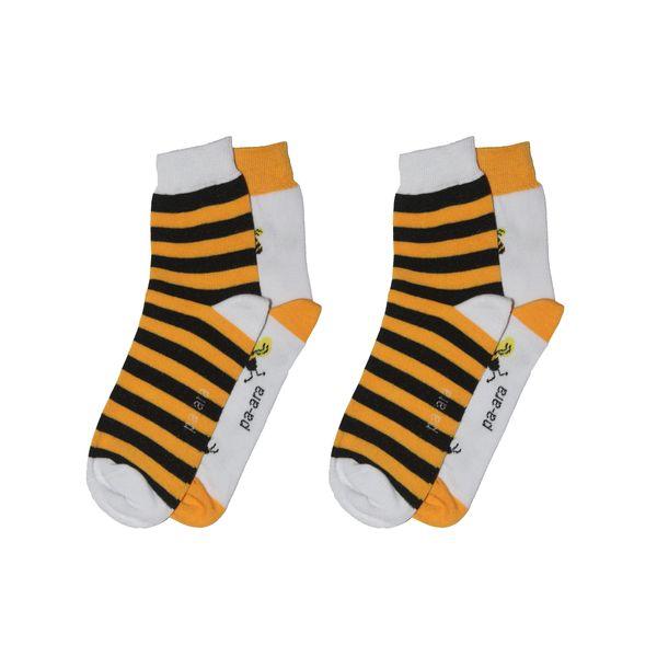 جوراب زنانه پاآرا طرح زنبور بسته 2 عددی