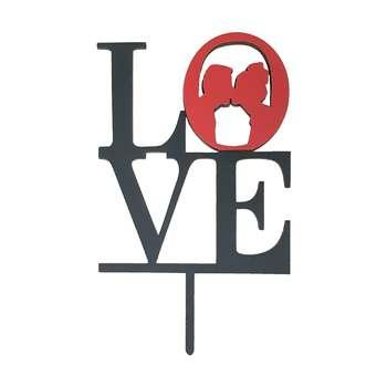 تاپر کیک مدل روز عشق کد LO04