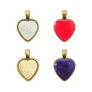 آویز گردنبند دخترانه طرح قلب مدل BO0007 مجموعه 4 عددی