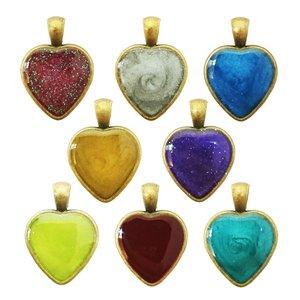 آویز گردنبند دخترانه طرح قلب مدل BO0007 مجموعه 8 عددی