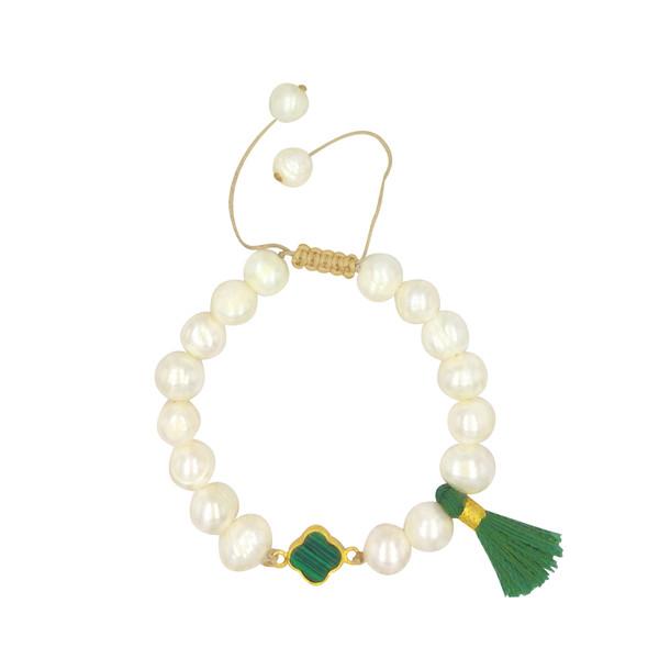 دستبند طلا 18 عیار زنانه الماسین آذر کد Van01