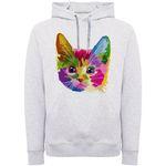هودی زنانه طرح گربه رنگی کد F276