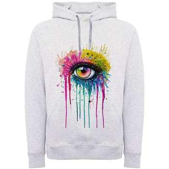 هودی زنانه طرح چشم رنگی کد F278