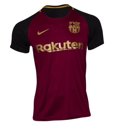 تصویر تیشرت ورزشی پسرانه طرح بارسلونا کد A02