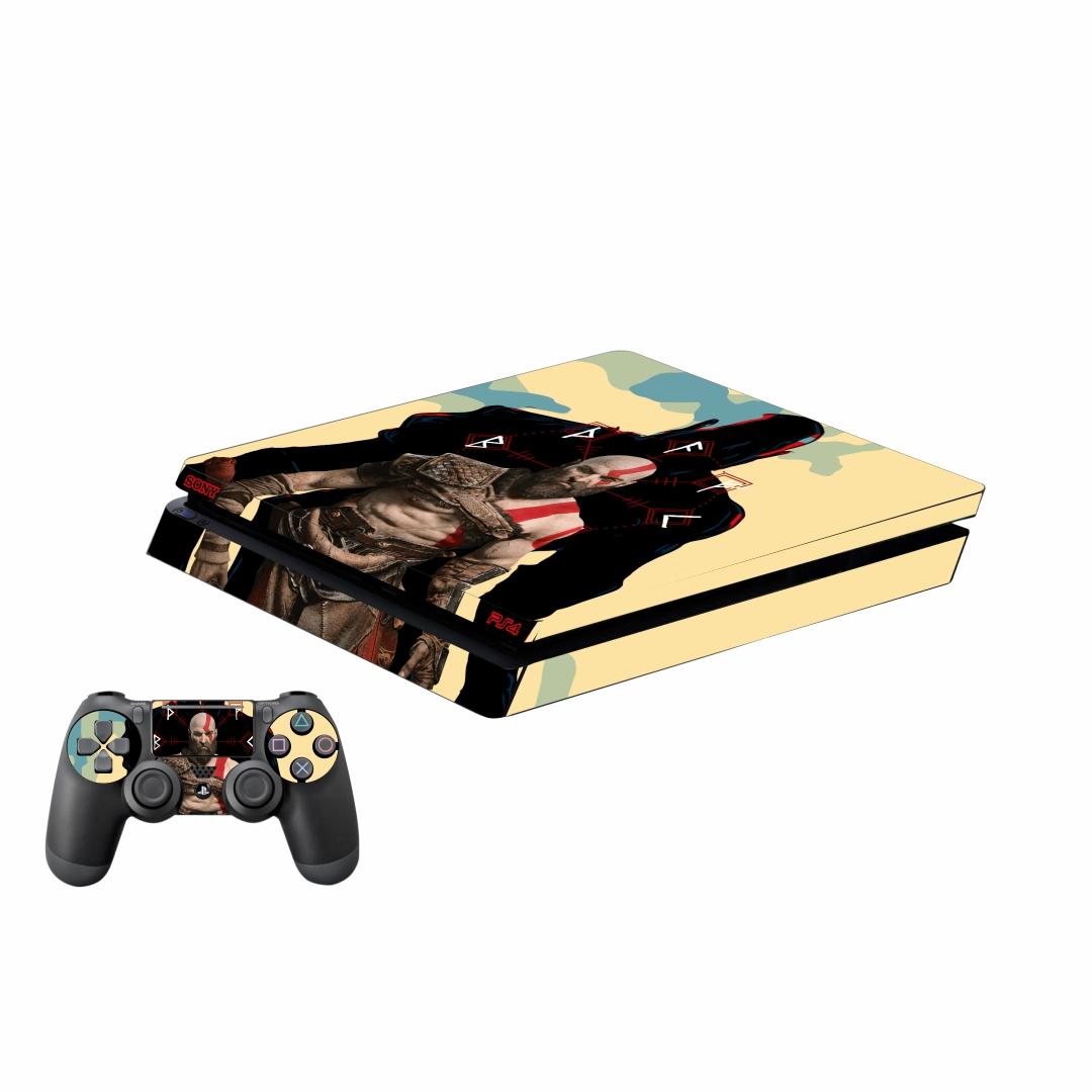 بررسی و {خرید با تخفیف}                                     برچسب پلی استیشن 4 اسلیم پلی اینفینی مدل God of War 04 به همراه برچسب دسته                             اصل