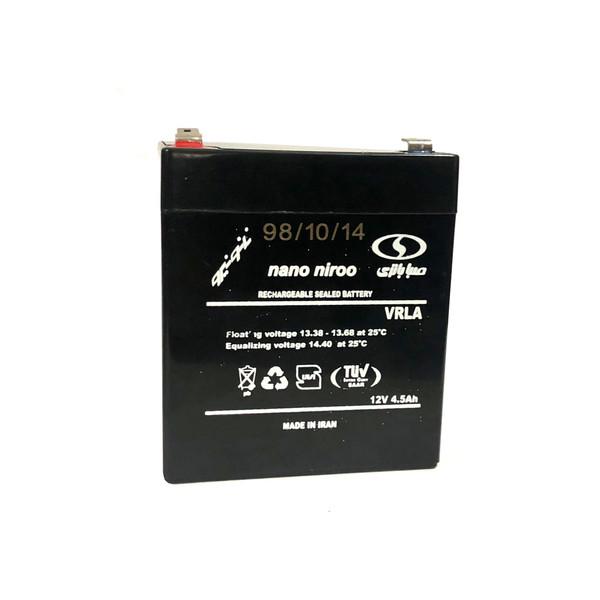 باتری یو پی اس 12 ولت 4.5 آمپر ساعت صبا باتری مدل نانو نیرو