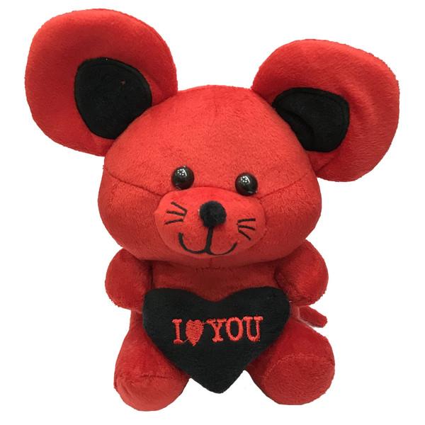 عروسک طرح موش قلب بدست ارتفاع 25 سانتی متر