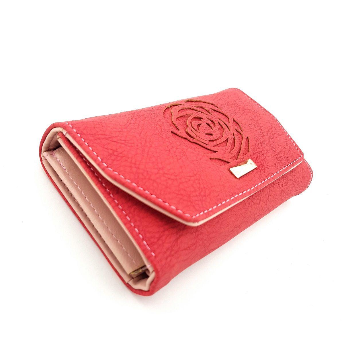 کیف پول زنانه طرح گل رز -  - 3