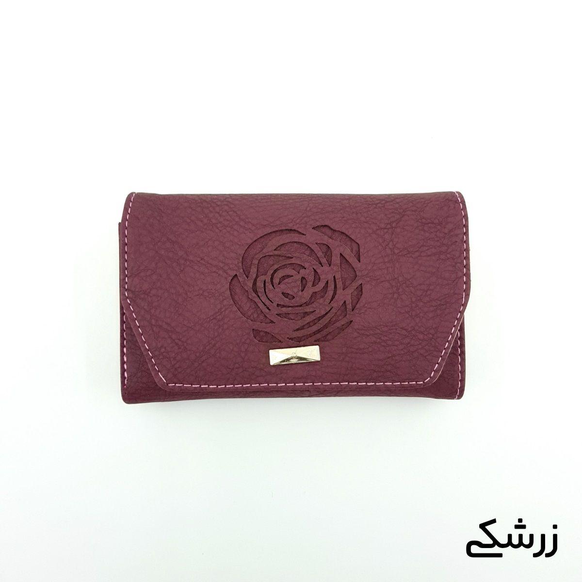 کیف پول زنانه طرح گل رز -  - 10