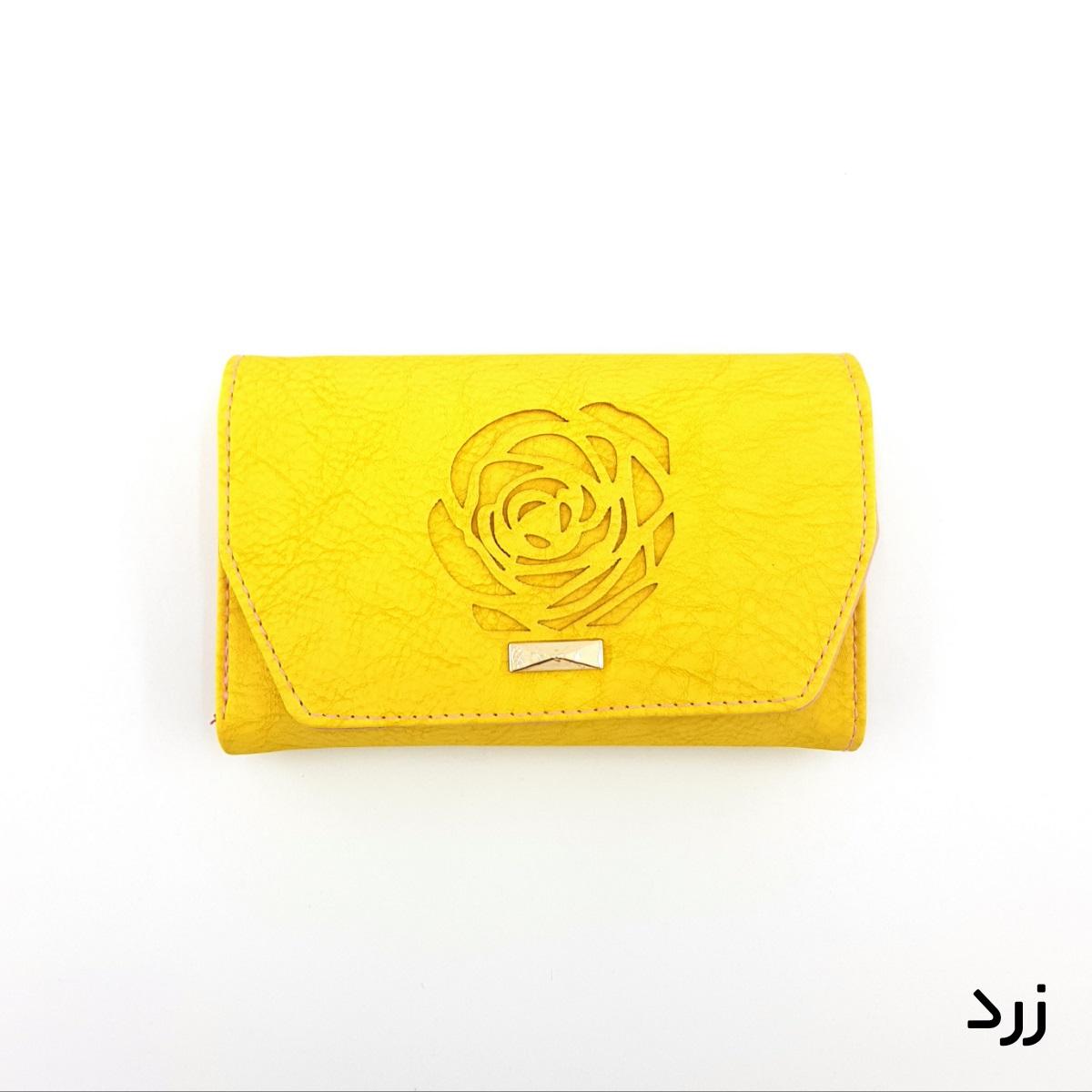 کیف پول زنانه طرح گل رز -  - 12