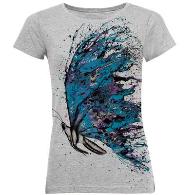 Photo of تی شرت آستین کوتاه زنانه طرح پروانه کد B24