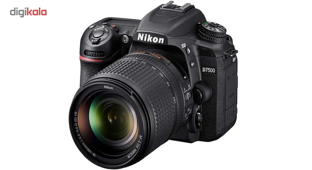 دوربین دیجیتال نیکون مدل D7500 به همراه لنز 18-140 میلی متر VR AF-S DX main 1 1