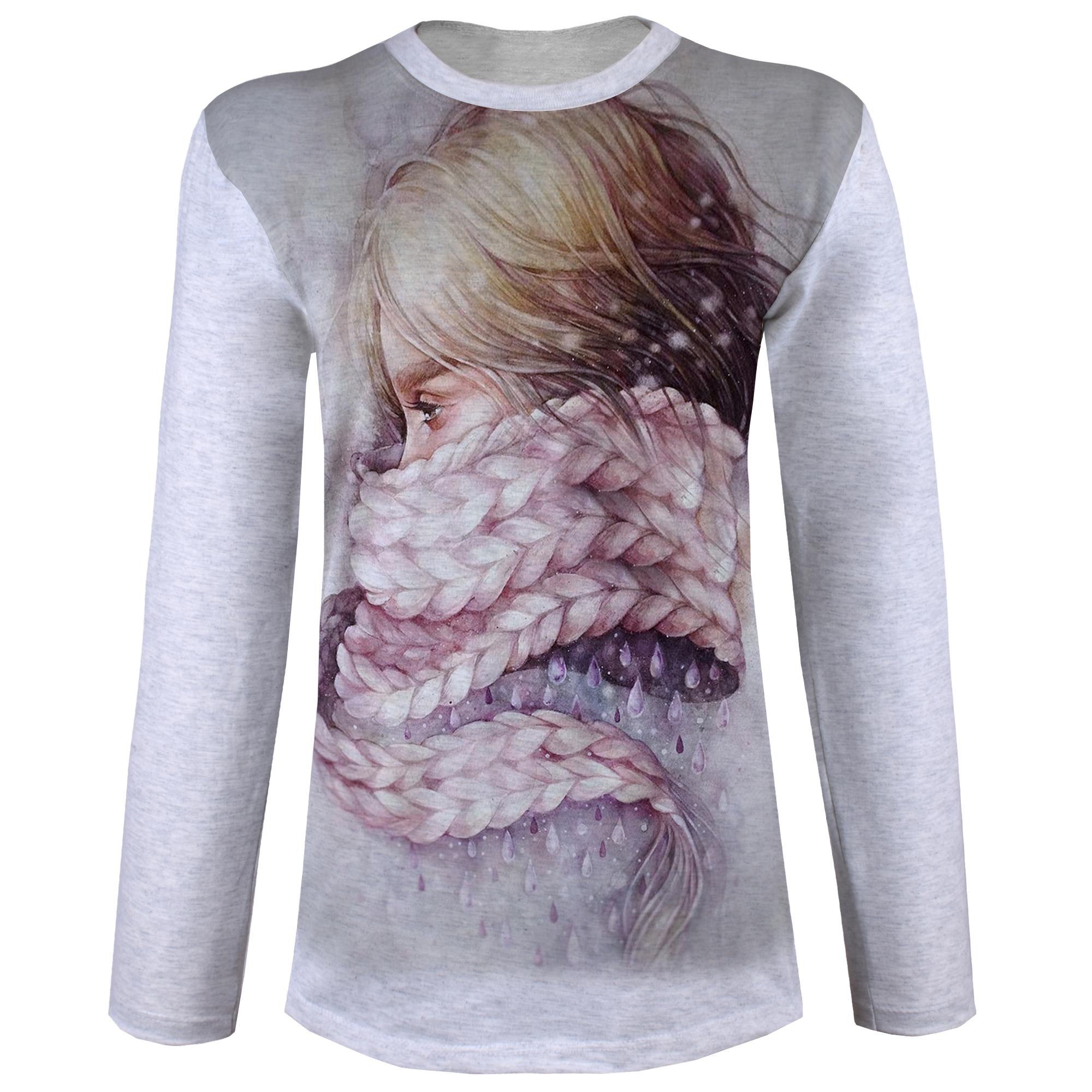 تصویر تی شرت آستین بلند زنانه کد M04