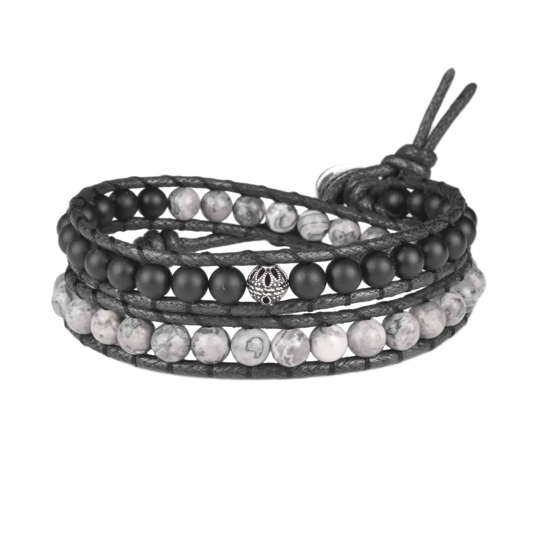 دستبند مردانه درگون جولری مدل WO14