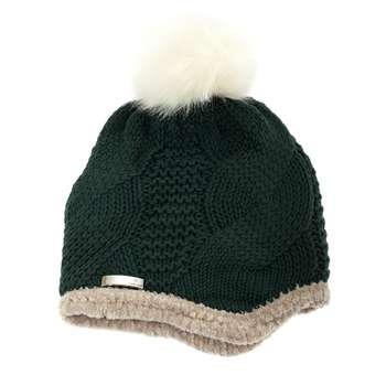 کلاه بافتنی تارتن مدل 80013 رنگ یشمی