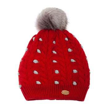 کلاه بافتنی تارتن مدل 80021 رنگ قرمز