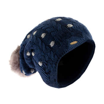 کلاه بافتنی تارتن مدل 80021 رنگ سرمه ای