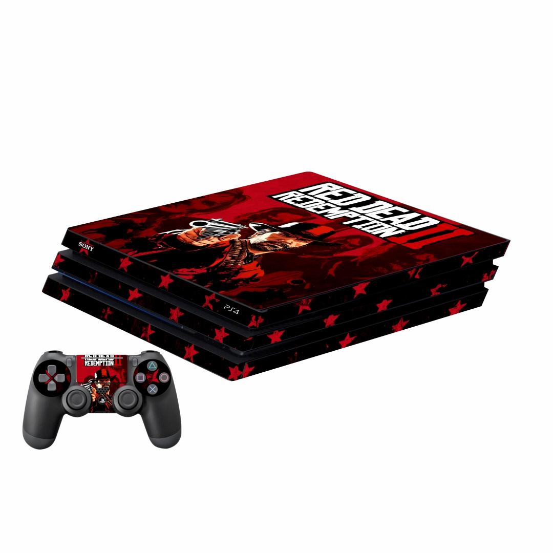 بررسی و {خرید با تخفیف}                                     برچسب پلی استیشن 4 پرو پلی اینفینی مدل Red Dead Redemption 2 01 به همراه برچسب دسته                             اصل