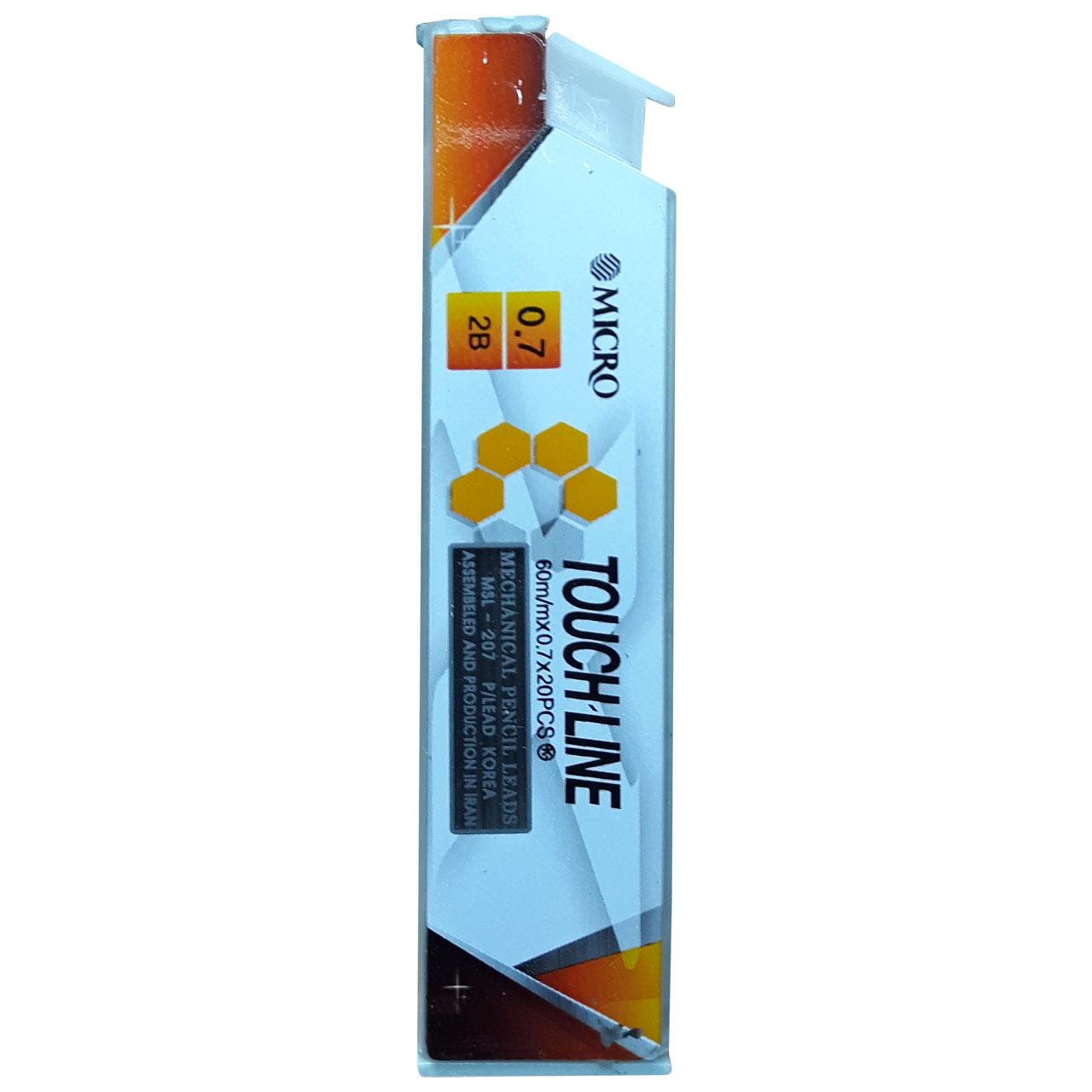 نوک مداد نوکی 0.7 میلی متری میکرو کد 207 بسته 12 عددی
