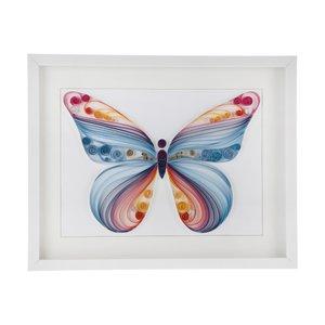تابلو ملیله کاغذی مدل پروانه کد 0001