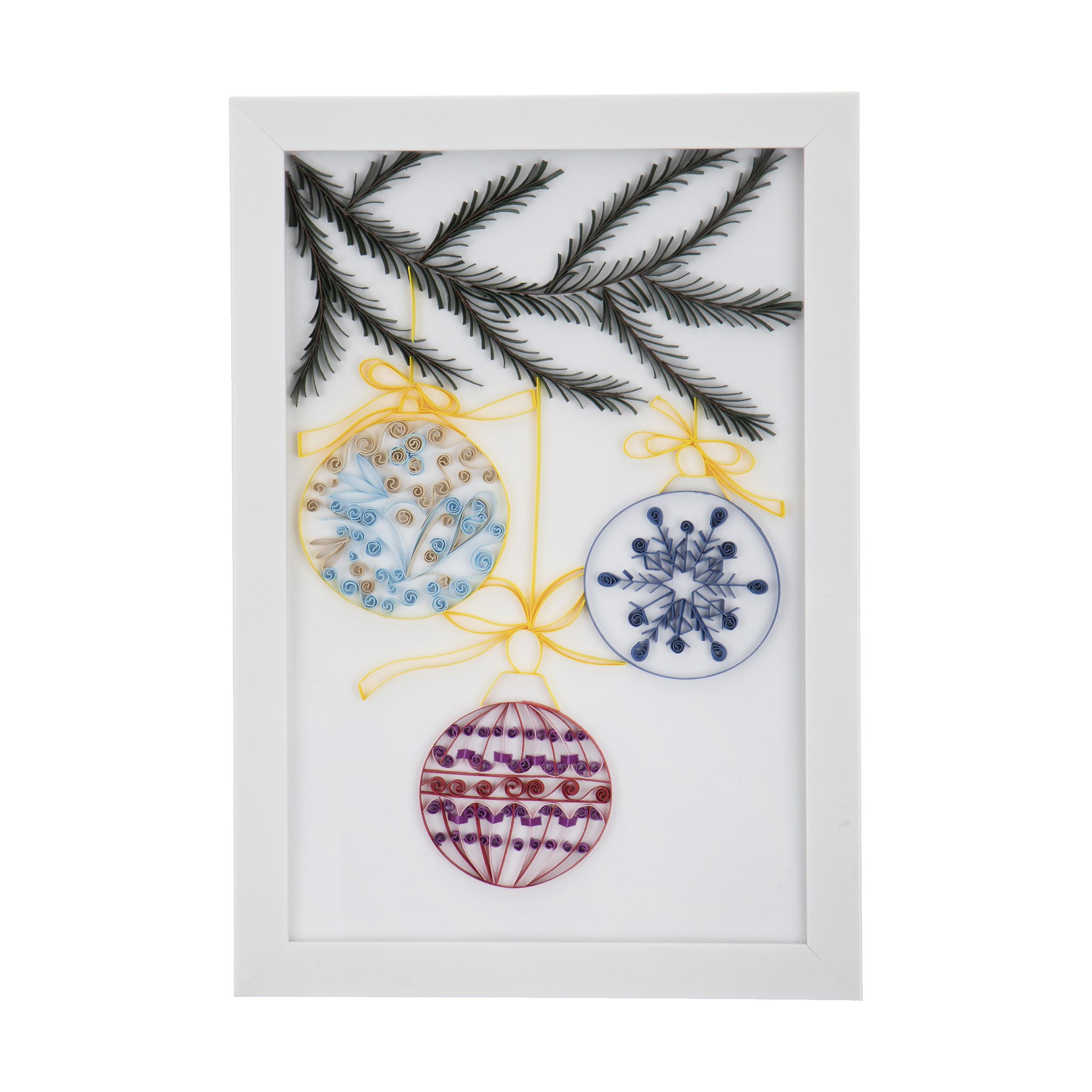 تابلو ملیله کاغذی مدل کریسمس کد 0004