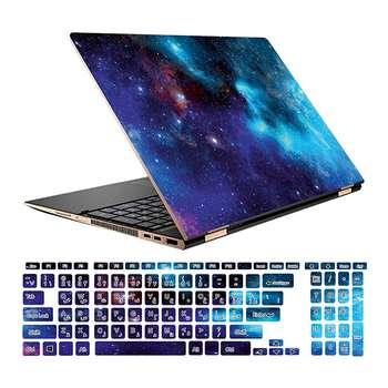 استیکر لپ تاپ طرح Space کد 01 مناسب برای لپ تاپ 15.6 اینچ به همراه برچسب حروف فارسی