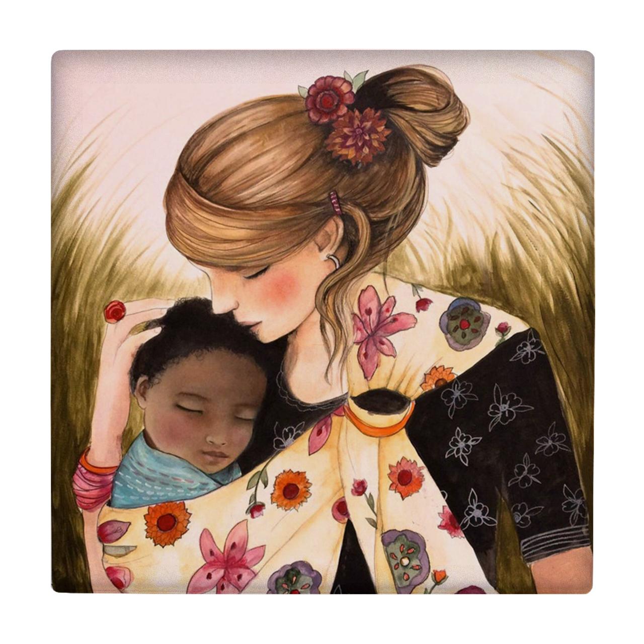 خرید                      کاشی طرح کودک و مادر کد wk180