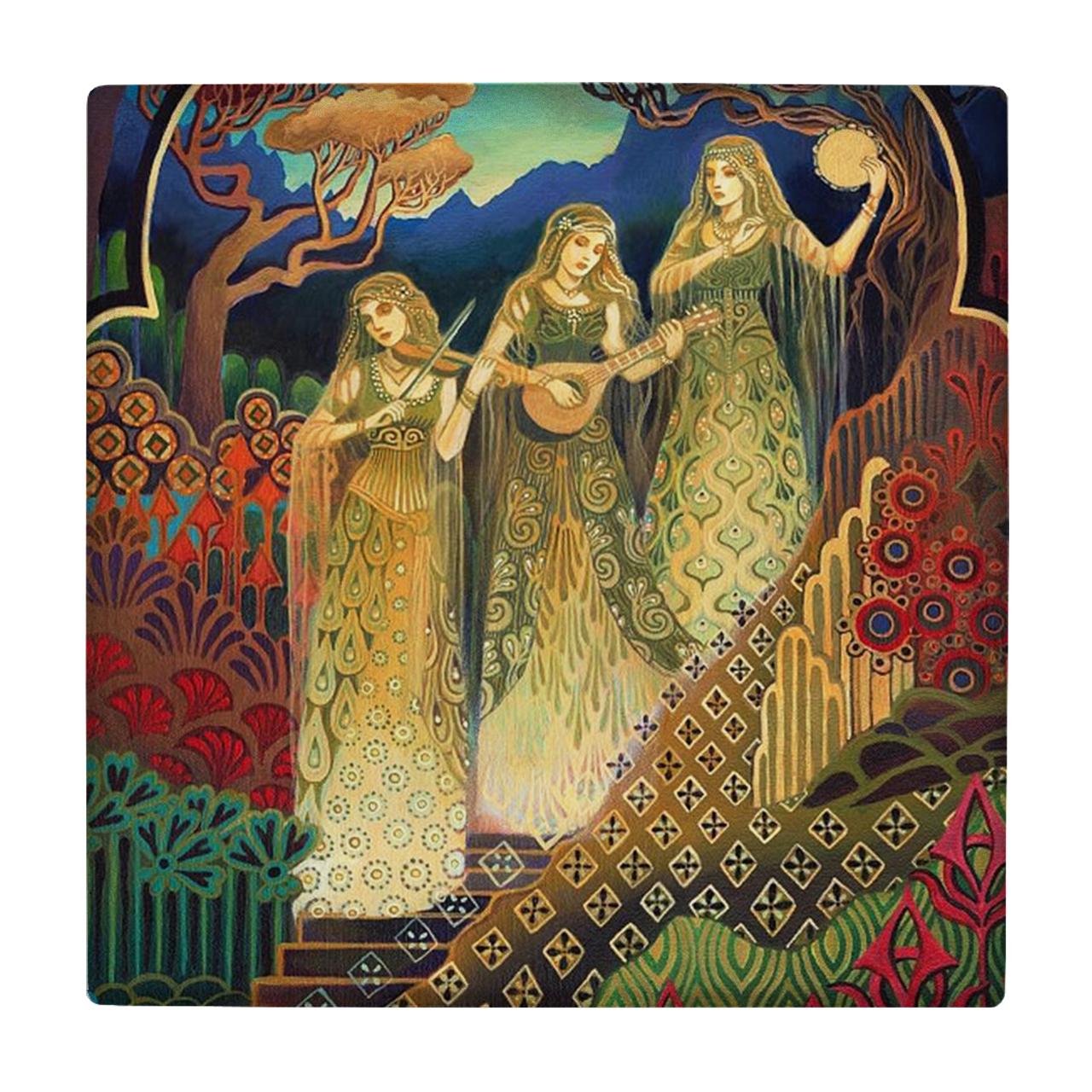 خرید                      کاشی طرح سه بانوی نوازنده کد wk179