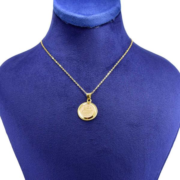 گردنبند طلا 18 عیار زنانه کانیار گالری طرح وان یکاد کد 1287