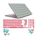 استیکر لپ تاپ صالسو آرت مدل 5021 hk به همراه برچسب حروف فارسی کیبورد