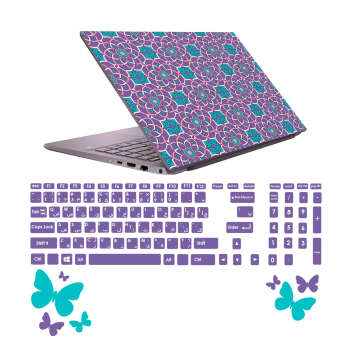 استیکر لپ تاپ صالسو آرت مدل 5022 hk به همراه برچسب حروف فارسی کیبورد