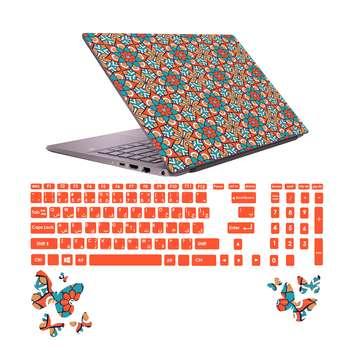 استیکر لپ تاپ صالسو آرت مدل 5025 hk به همراه برچسب حروف فارسی کیبورد