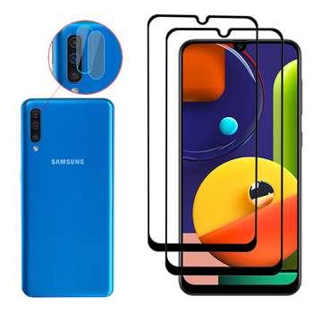 محافظ صفحه نمایش اینفینیتی مدل INFLNZGLS-2 مناسب برای گوشی موبایل سامسونگ GALAXY A50S بسته دو عددی به همراه دو عدد محافظ لنز دوربین