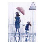 تابلو شاسی طرح چتر و باران کد Ir-808