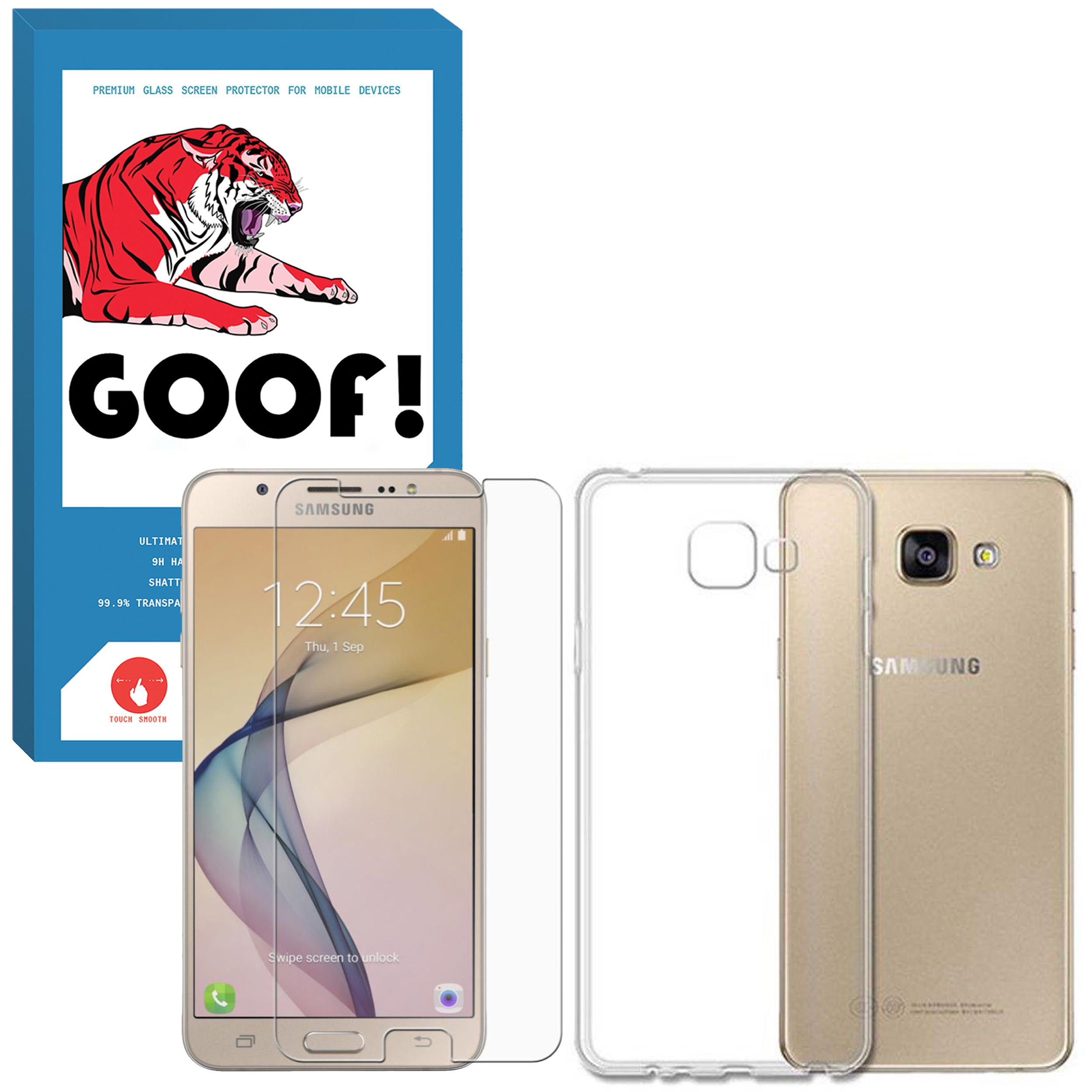 کاور مدل CLR-001 مناسب برای گوی موبایل سامسونگ Galaxy A3 2017 / A320 به همراه محافظ صفحه نمایش گوف مدل SDG-001