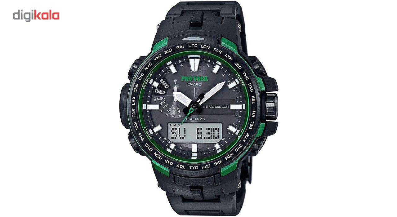 خرید ساعت مچی عقربه ای مردانه کاسیو پروترک مدل PRW-6100FC-1DR