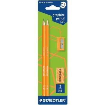 ست مداد مشکی و پاکن و تراش استدلر مدل Neon