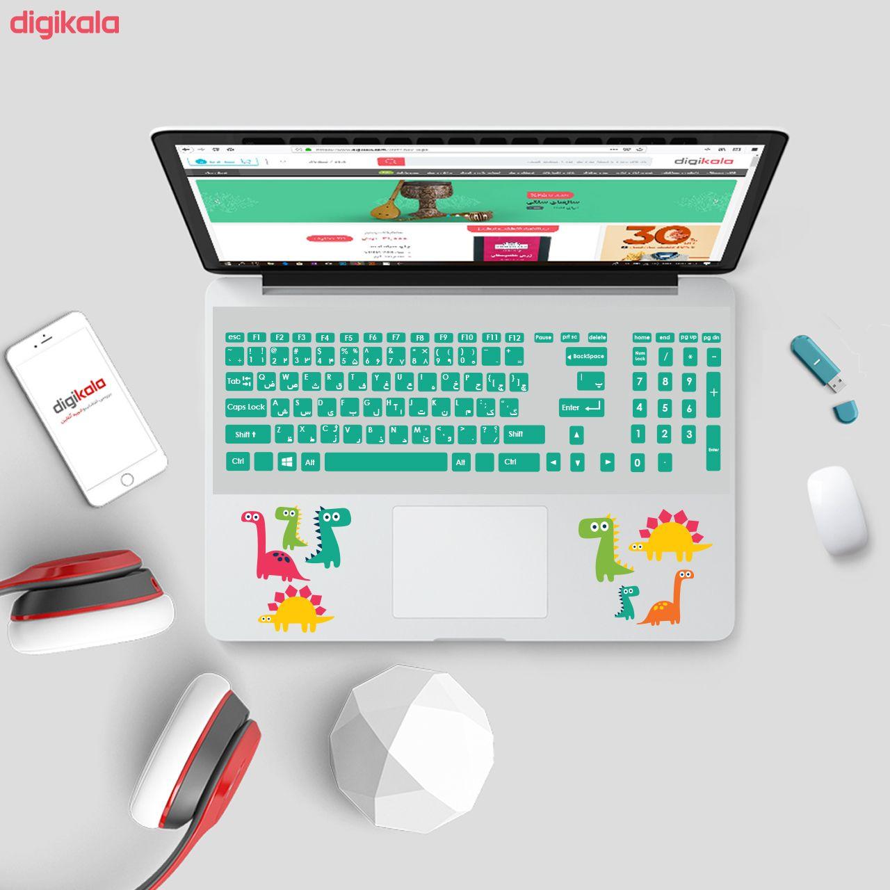 استیکر لپ تاپ صالسو آرت مدل 5029 hk به همراه برچسب حروف فارسی کیبورد main 1 2