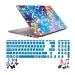استیکر لپ تاپ صالسو آرت مدل 5033 hk به همراه برچسب حروف فارسی کیبورد