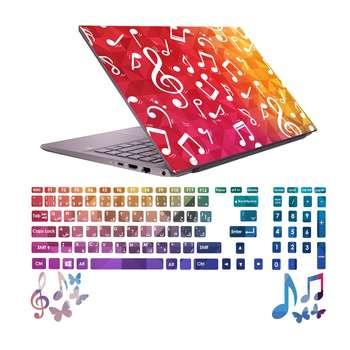 استیکر لپ تاپ صالسو آرت مدل 5034 hk به همراه برچسب حروف فارسی کیبورد