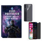 محافظ صفحه نمایش حریم شخصی و پشت گوشی زیرو مدل PRZ-01 مناسب برای گوشی موبایل اپل Iphone X