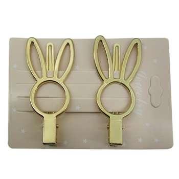 گیره مو زنانه طرح خرگوش بسته ۲ عددی