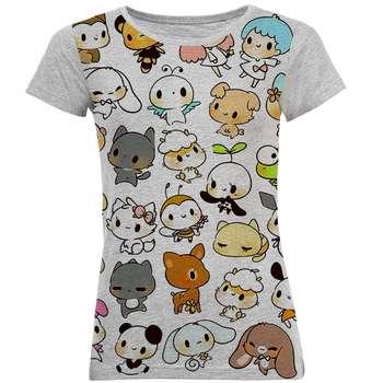 تی شرت آستین کوتاه زنانه طرح کارتونی کد B33