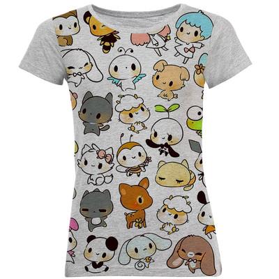 تصویر تی شرت آستین کوتاه زنانه طرح کارتونی کد B33