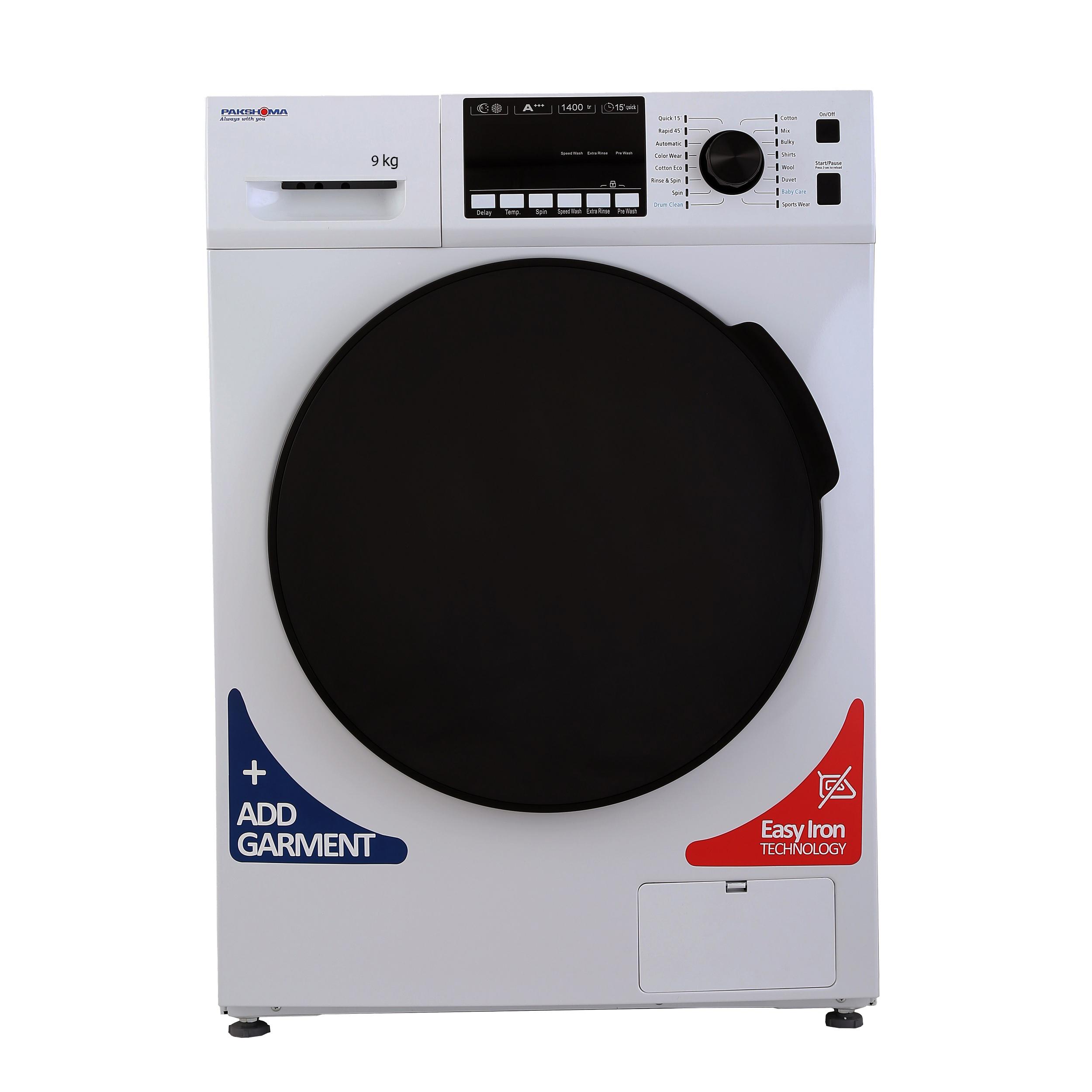 خرید ماشین لباسشویی پاکشوما مدل TFU-93407 ظرفیت 9 کیلوگرم