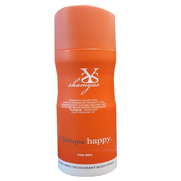اسپری خوشبو کننده بدن مردانه شمیاس مدل Clinique Happy حجم 200 میلی لیتر