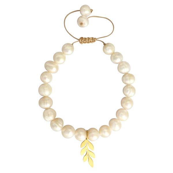 دستبند طلا 18 عیار زنانه الماسین آذر طرح گندم کد gandom01