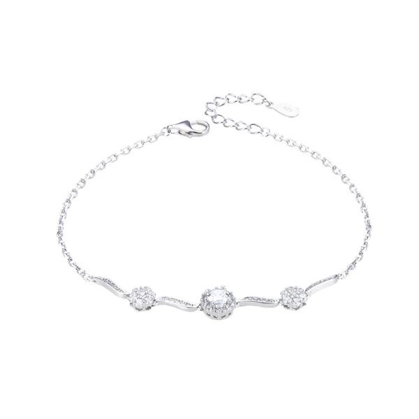 دستبند نقره زنانه شهر جواهر کد SJ-RIB015