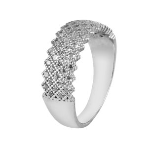 انگشتر نقره زنانه مد و کلاس کد 1000513-8